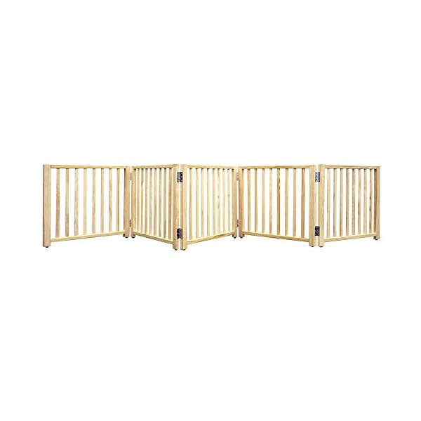 Four Paws Expandable Dog Gate, Wood Gate for Dogs, 5-Panel