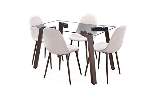 Royaloak Fortuna Four Seater Dining Table (Grey)