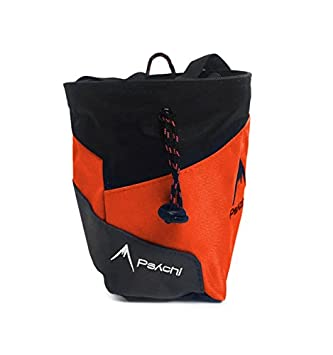 Bolsa de tiza Psychi Premium para escalada en roca con bolsillo trasero con cremallera y cinturón de cintura, naranja: Amazon.es: Deportes y aire libre