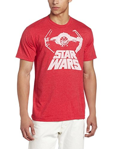 Star Wars Bat Fighter Adult Heather Red T-Shirt (XXX-Large)