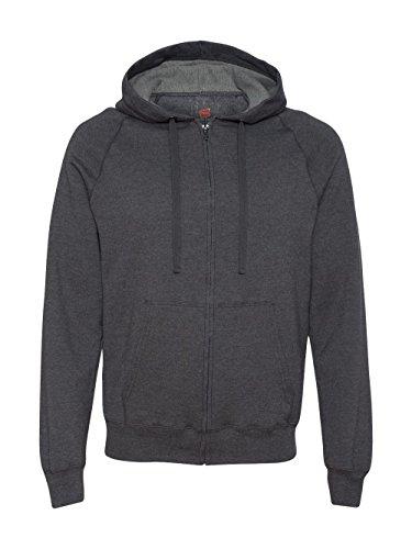 Full Zip Hood Light - Hanes Men's Full Zip Nano Premium Lightweight Fleece Hoodie, Charcoal Heather, X-Large