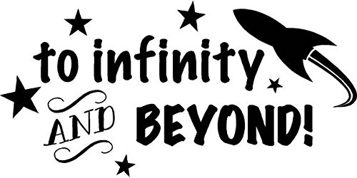 DS Inspirational Decals Toy Story Vinyl Wall Decoration - to Infinity and Beyond Kid's Movie Quote - Bedroom Decal/Sticker - 20
