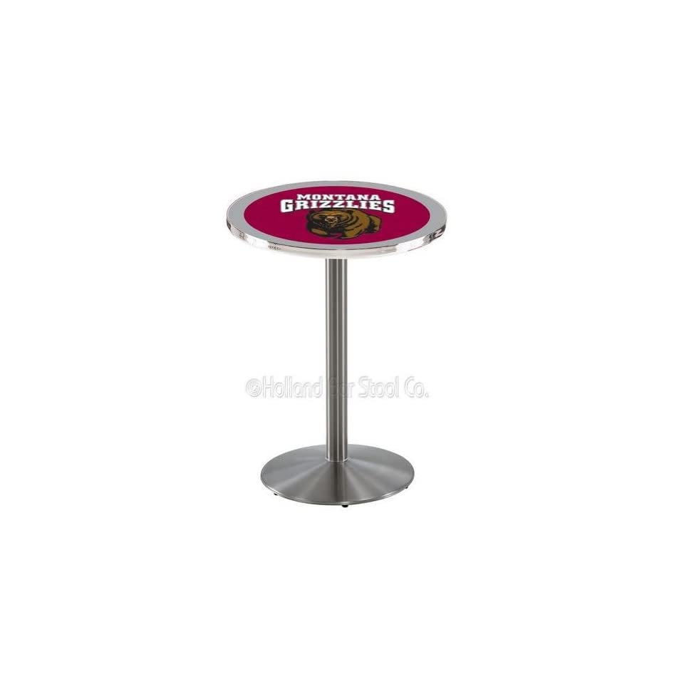 Holland Bar Stool L214S University Of Montana Officially Licensed Pub Table, 28 x 36, Stainless Steel