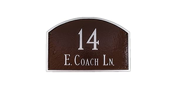 Montague Metal Products 13 by 21-Inch Prestige Arch Address Plaque Large