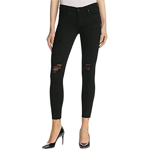 Black Orchid Womens Noah Destroyed Colored Skinny Jeans Black 28