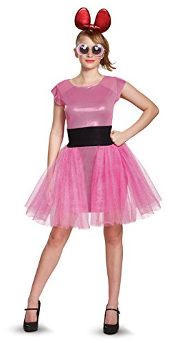 Diy Powerpuff Girl Costumes (Disguise Women's Blossom Deluxe Adult Costume, Pink,)