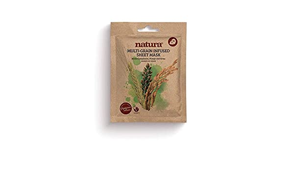 Natura MULTI-GRAIN Infused Sheet Mask By BeautyPro, Boosts Complexion, Cell Renewing, Anti-Ageing Formula Face Mask 30g: Amazon.es: Belleza