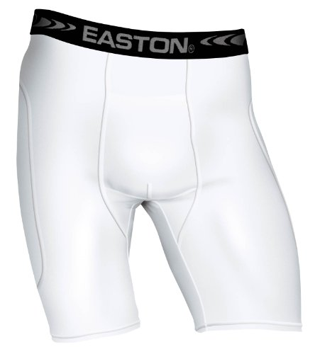 Easton Youth Sliding Short, White, Large