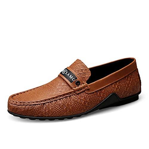 Ocasionales Cuero 5cm Negocio gommino 23 Brown Zgsjbmh Hombres Y Liviano Los Diseño Planos Único Zapatos Genuinos Suave Del 27 Moccasin tamaño De 0cm Conducción xqUzfZ0x