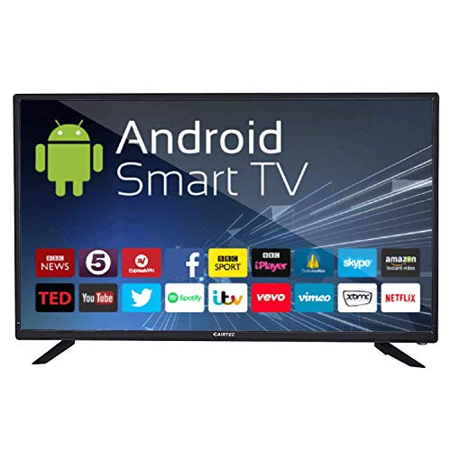 eAirtec 81 cm (32 Inches) HD Ready Smart LED TV 32 SM VC (Black) (2020 Model)   with Voice Command Remote
