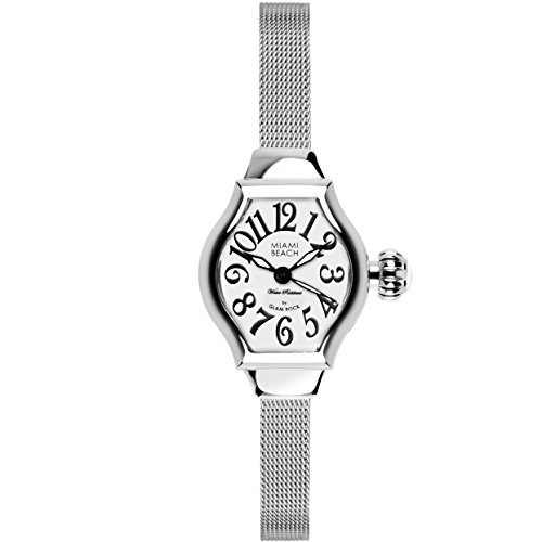 Glam Rock Women's MBD27140 Miami Beach Art Deco Silver Dial Stainless Steel Watch