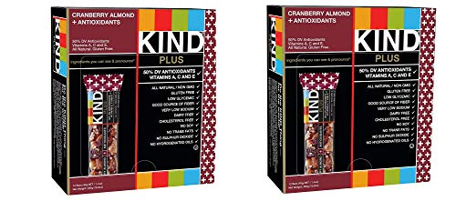 KIND Bars, Cranberry Almond plus Antioxidants with Macadamia Nuts, Gluten Free, Low Sugar, 1.4oz, 24 Bars by KIND (Image #1)