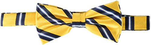 Nick Graham Men's Track Stripe Bow Tie, Yellow, One Size