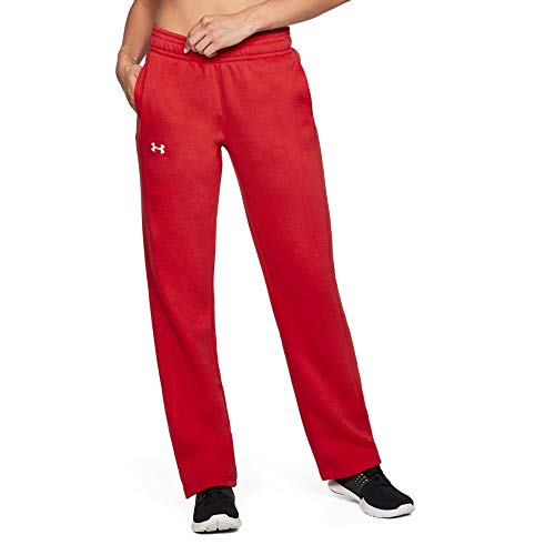 Red Womens Sweatpants - Under Armour UA Rival SM Red
