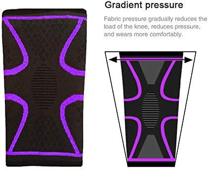 Joint Pain Relief,Injury Recovery,Meniscus Tear Arthritis Catena Knee Brace Compression Sleeve for Men and Women,1 Pair Knee Support for Running,Basketball Sports