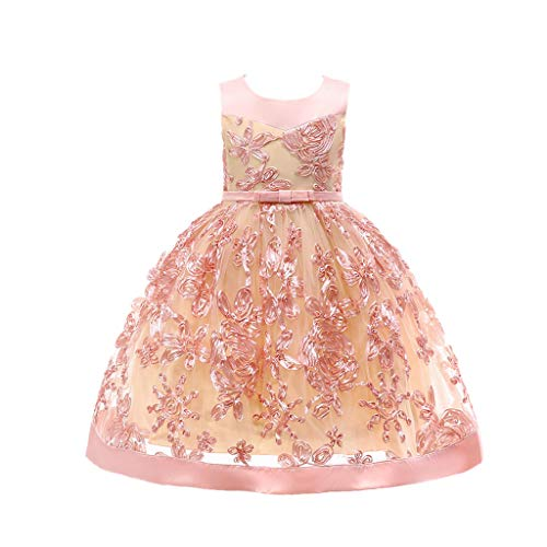 Floral Baby Girl Princess Bridesmaid Pageant Gown Birthday Party Wedding Dress ()
