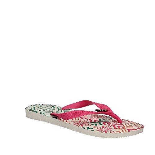 Havaianas Gracia, Chanclas para Mujer Multicolor (White/Shocking Pink 8519)