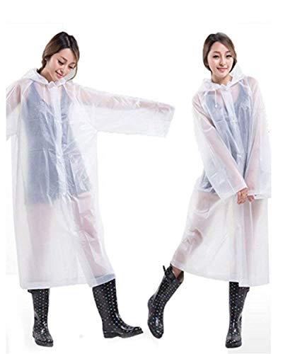 Casual Imperméable Rain Et Dame Pluie Poncho Blanc De Eva Jaune Capuche L'eau À Vestes FqHXqp