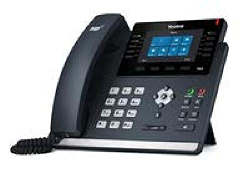Yealink SIP-T46S IP Phone, 16 Lines. 4.3-Inch Color Display. Dual-Port Gigabit Ethernet, 802.3af PoE, Power Adapter Not Included (Yelling Power Supply)