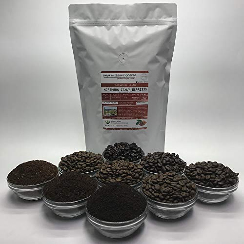 2 Pounds - Espresso Blend - Northern Italy - Roasted To Order Arabica Coffee - Order Today/We Roast Today - Choose Roast Level (Light /Blonde /Medium /Med-Dark /Dark /Italian) (Whole Bean / Ground)