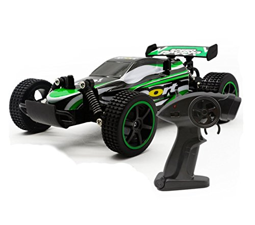 15+Mph RC Car High Speed Remote Control Car Fast Electric Vehicle Cars 1:18 - Gift for Kids (Green)