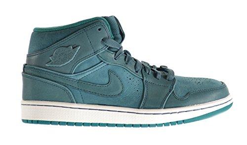 Air Jordan 1 Mid Nouveau Men's Shoes Night Shade-Lush Teal-White 629151-306 (8.5 D(M) US)