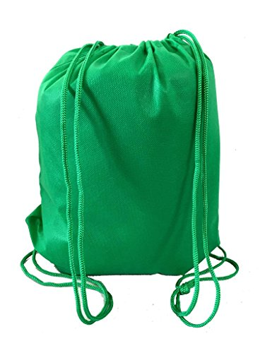 100 PACK - Multipurpose Non Woven Well Made Drawstring Backpack Bags by BagzDepot (Image #1)