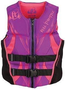 Full Throttle Women's Hinged Rapid-Dry Flex-Back Vest, Purple (Med)