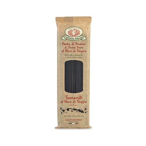 Rustichella d'Abruzzo Durum Wheat Squid Ink Tonnarelli (Spaghetti) Pasta - 17.6 oz