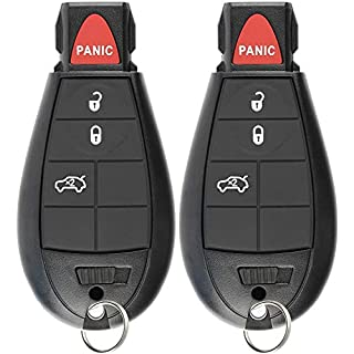 Discount KeylessOption Keyless Entry Remote Control Smart Key Fob Ignition Alarm for Dodge Dart M3N32297100 (Pack of 2)