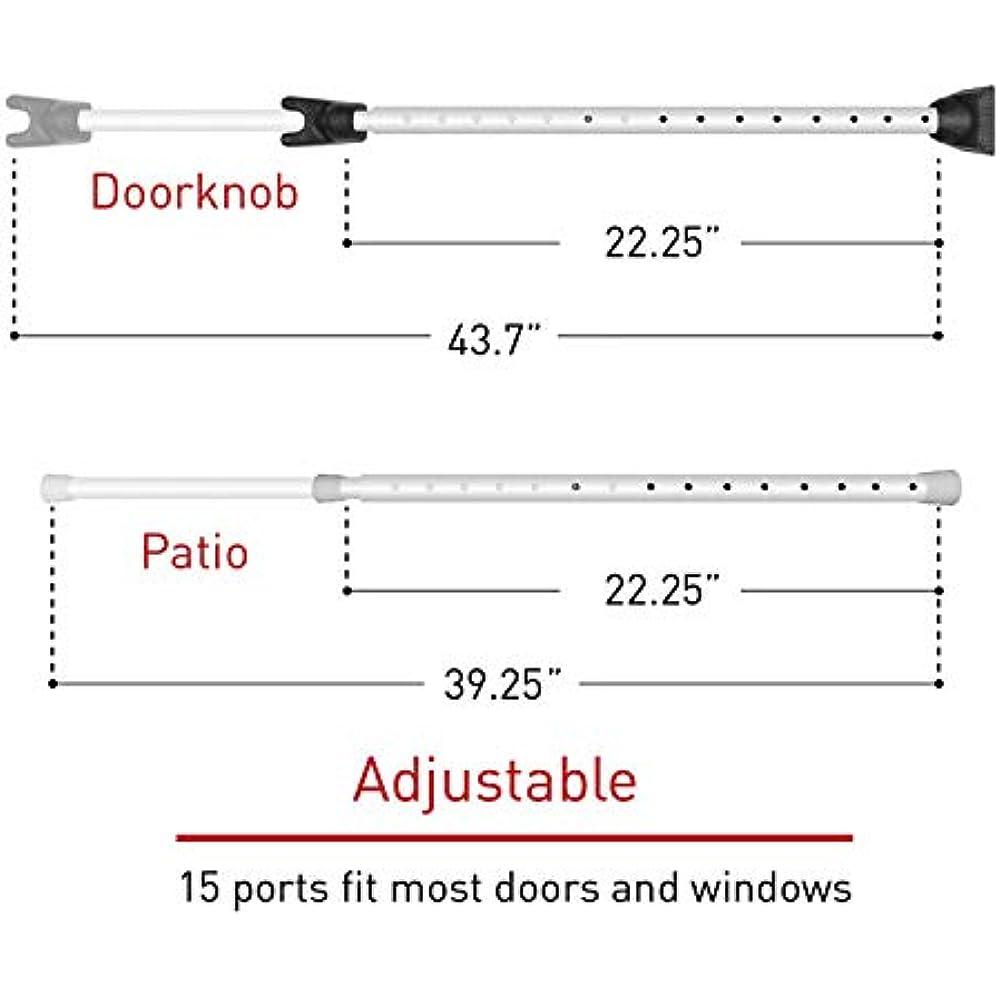 2-in-1 Adjustable Door Knob Jammer & Sliding Patio ...