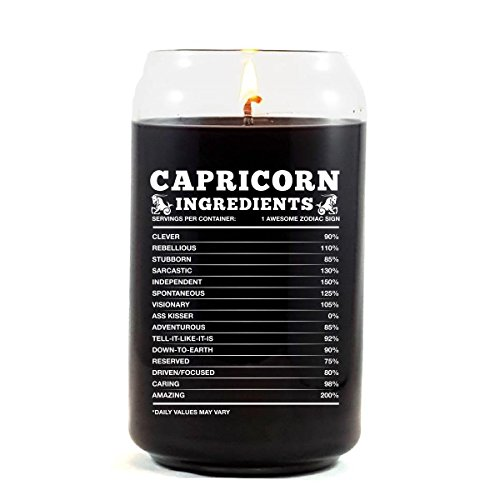 Capricorn Ingredients Capricorn Zodiac Star Sign Gift - Scented Candle