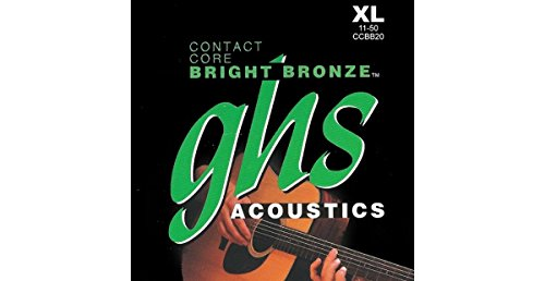 GHS Contact Core Bright Bronze Medium Acoustic Guitar Strings (Ghs Bright Bronze Acoustic Guitar)