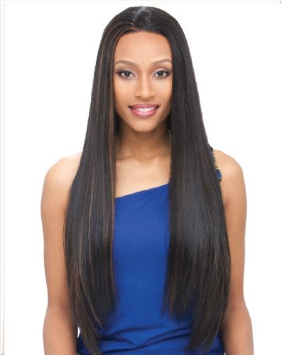Janet Collection Whole Lace Wig Synthetic Hair - Elf - 1B (Synthetic Whole Lace Wig)