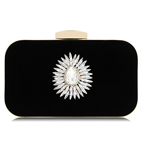 Banquet Luxury Wedding Cosmetic Rabbit Bag Women Black Color Decorate Diamonds Bridal Bag Purse Blue Lovely Evening qcCEHnwBC