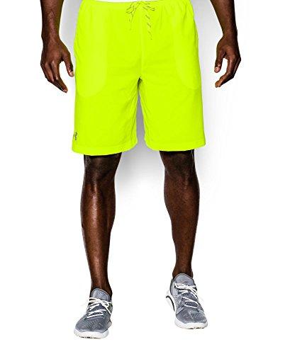 Under Armour Men's UA HeatGear ArmourVent Guster Shorts Small High-Vis Yellow