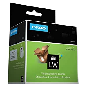 Dymo Corporation Products - Shipping Labels, 4amp;quot;x2-1/8amp;quot;, 220 Labels/BX, White - Sold as 1 RL - Paper shipping labels print directly from the roll for simple use. Print labels one-up or in a batch. Compatible with DYMO LabelWriter printer EL60, Turbo and CoStar LabelWriter XL Plus, Turbo, 320, 330, 330 Turbo, 400, 400 Turbo, Twin Turbo, DuoTurbo, Seiko SLP240 and SLP Pro.