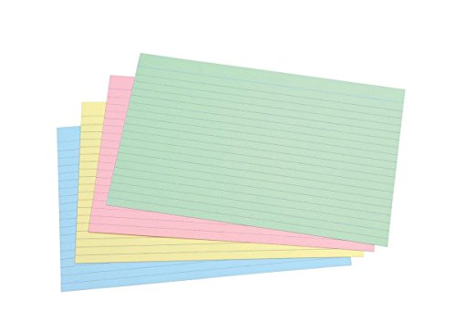 - Concord Record Card Smooth 203x127mm Assorted Ref 16299 [Pack of 100]