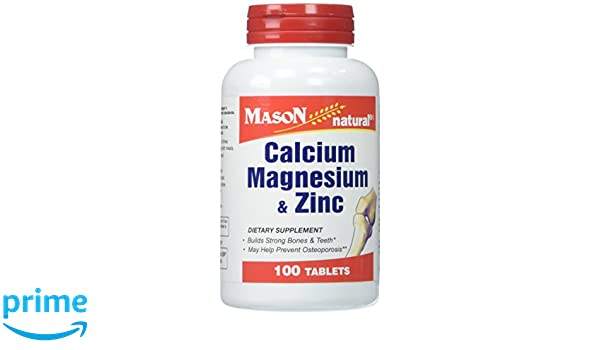 Amazon.com: Mason Vitamins Calcium Magnesium & Zinc Tablets, 100 Count: Health & Personal Care