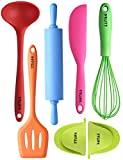 TTLIFE Silicone Kitchen Utensil Set, Colorful 7pc Cute Cooking Tools Deal (Small Image)