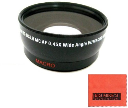 52mm 0.43X Wide Angle Lens For Canon Digital EOS Rebel SL1,