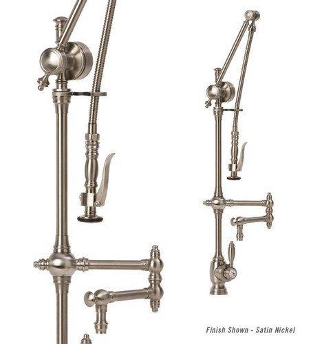Waterstone 441012WT 12 Articulated Spout Traditional Gantry Faucet White