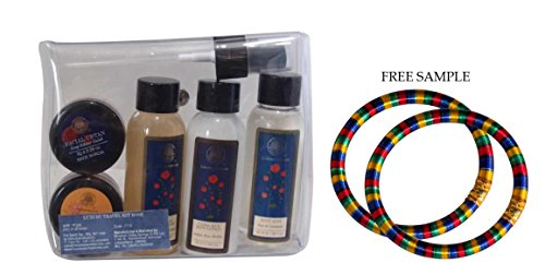 Forest Essentials Luxury Travel Kit - ROSE - With FREE GIFT (Pair of Multicolor Bangles)