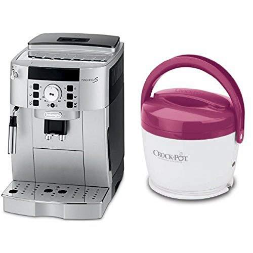 DeLonghi ECAM22110SB Compact Automatic Cappuccino, Latte and Espresso Machine and Crock-Pot SCCPLC200-PK 20-Ounce Lunch Crock Food Warmer, Pink Bundle