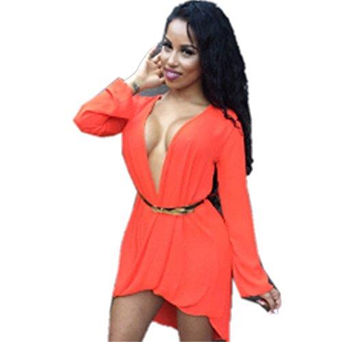NEW Mesdames orange haute basse pour femme robe de soirée Tunique robe drapée robe taille M 10–12