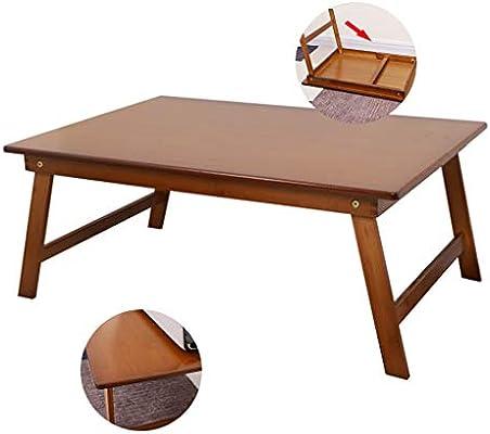 Escritorio la Tabla del Ordenador portátil Plegable de bambú Tabla ...