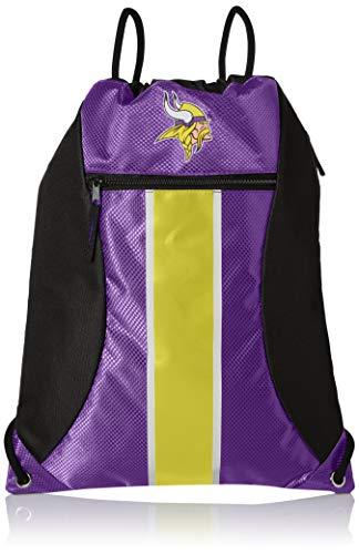 Minnesota Vikings Big Stripe Zipper Drawstring Backpack