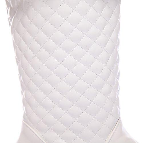 BalaMasaAbl09400 - Sandali con Zeppa donna, Bianco (White), 35