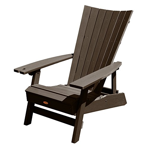 Highwood Manhattan Beach Adirondack Chair with Wine Glass Holder, Weathered Acorn Review