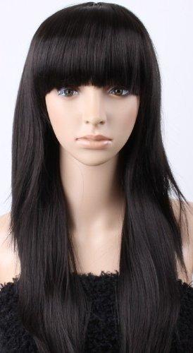 WBS Sexy Long Black Straight Women Fancy Dress Wig for Fun a714e7e5e4